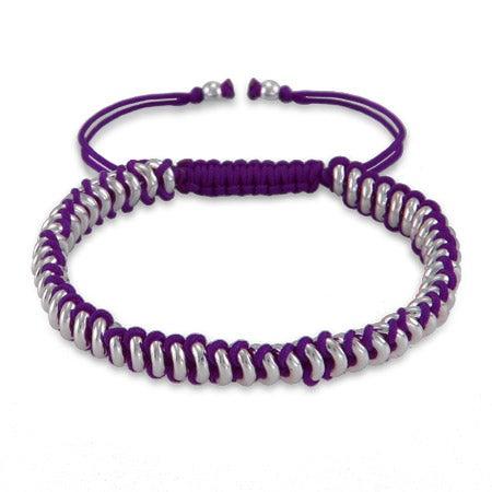 Purple Beaded Disc Friendship Bracelet | Eve's Addiction®
