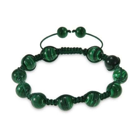 Green Agate Shamballa Style Bracelet | Eve's Addiction®