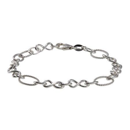 Sterling Silver Infinity Link Bracelet | Eve's Addiction®