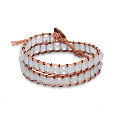 Chen Rai Quartz Tan Wrap Bracelet | Eve's Addiction®