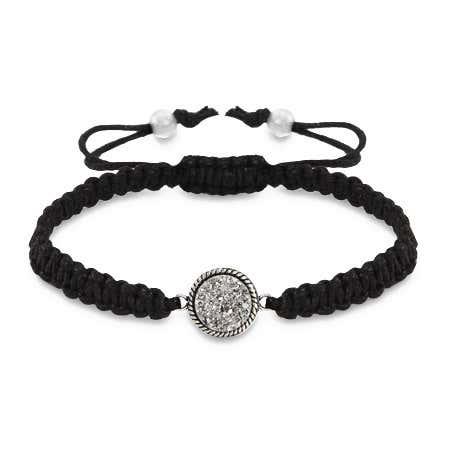 Shimmering Dusk Drusy Macrame Bracelet | Eve's Addiction®
