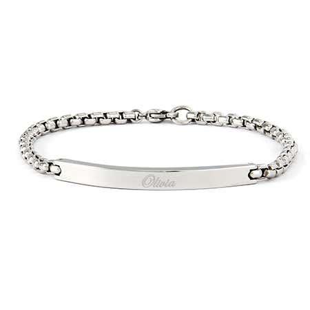 Round Box Link ID Bracelet