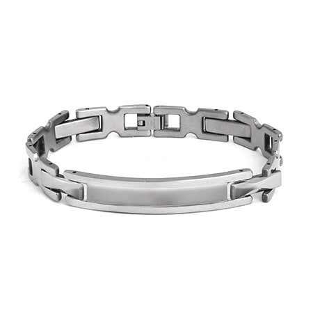 Engravable Stainless Steel Ladder Links ID Bracelet