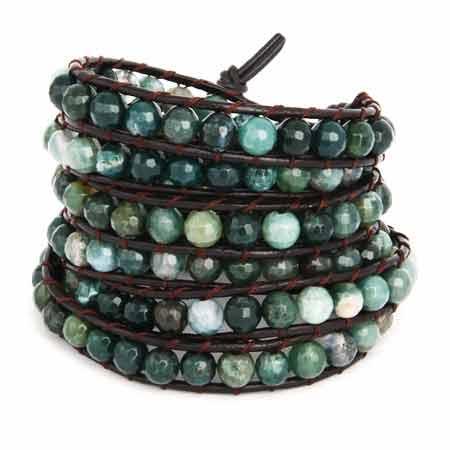 Chen Rai Green Beaded Wrap Bracelet | Eve's Addiction®