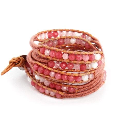 Chen Rai Mixed Pink Quartz Wrap Bracelet | Eve's Addiction®