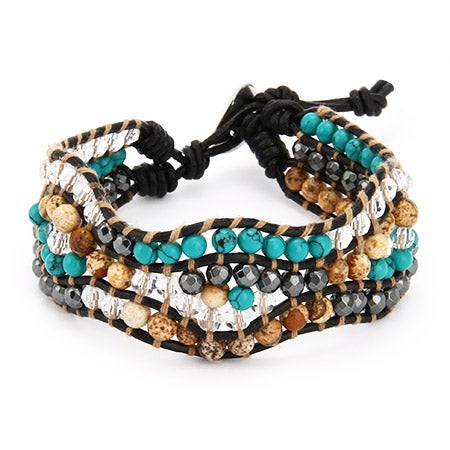 Chen Rai Mixed Gemstone Single Wrap Bracelet | Eve's Addiction®