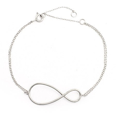 I Love You More Silver Infinity Bracelet | Eve's Addiction®