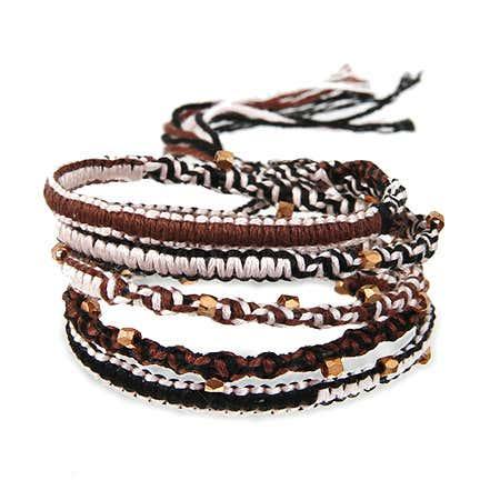 Chen Rai Beaded Macrame Wrap Bracelet | Eve's Addiction®
