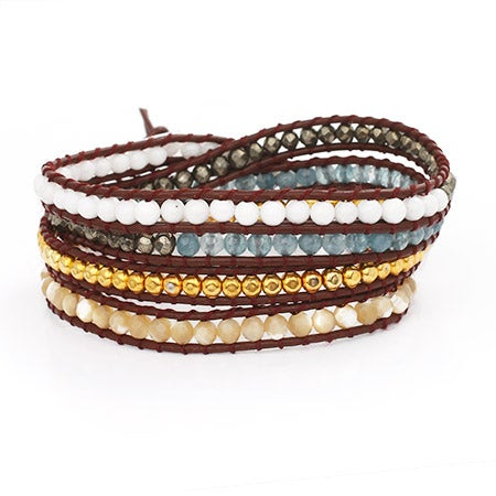 Chen Rai Multi Stone Wrap Bracelet | Eve's Addiction®