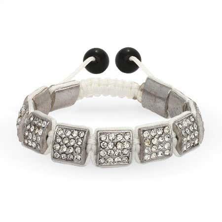 Diamond Crystal Ice Square Cut Bracelet