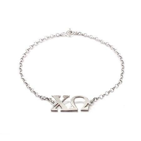 Chi Omega ΧΩ Bracelet in  Sterling Silver | Eve's Addiction®