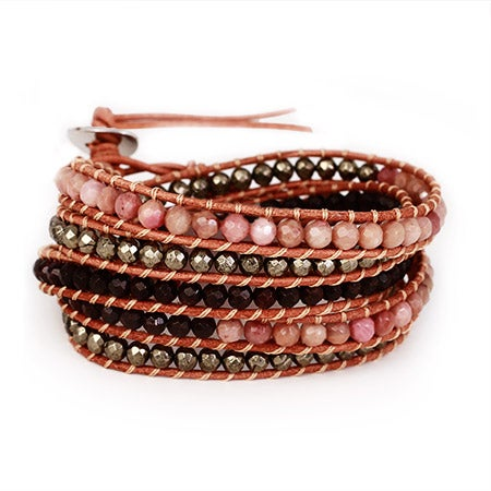 Chen Rai Pink Jasper Stone Wrap Bracelet   Eve's Addiction®