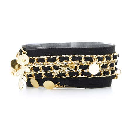 Black and Gold Charm 5 in 1 Wrap Jewelry