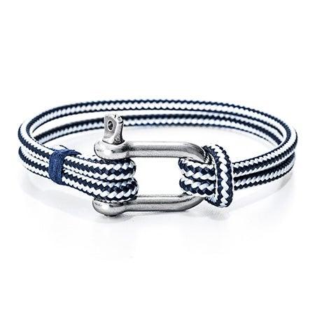 Miguel Chapino Navy Blue Nautical Rope Shackle Bracelet | Eve's Addiction®