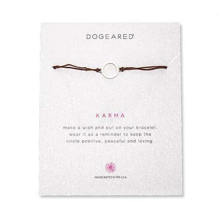 Dogeared Karma Irish Linen Bracelet