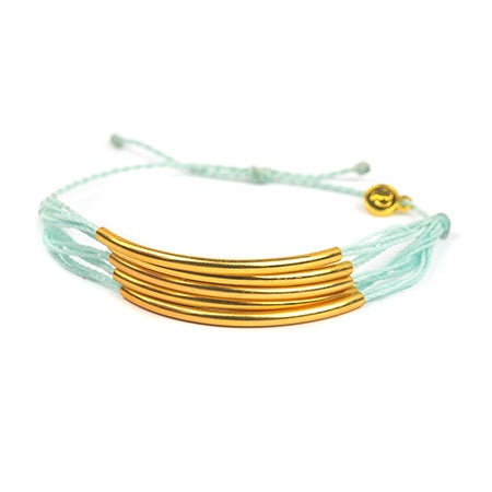 Pura Vida Gold Cuff in Seafoam | Eve's Addiction®