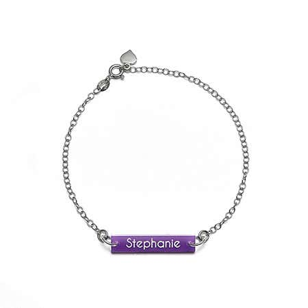Acrylic Custom Name Bar Bracelet | Eve's Addiction®