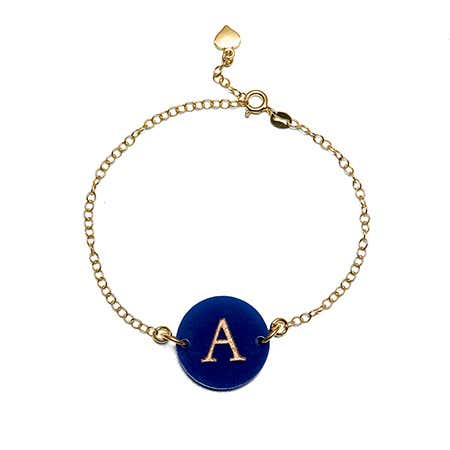 Personalized Initial Acrylic Round Tag Bracelet | Eve's Addiction®
