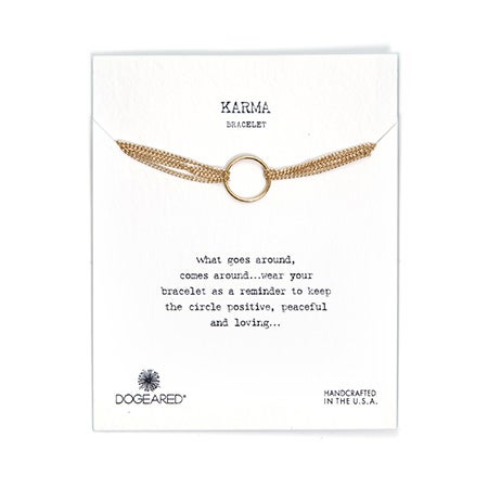 Dogeared Karma Gold Dipped Bracelet with 4 Strands