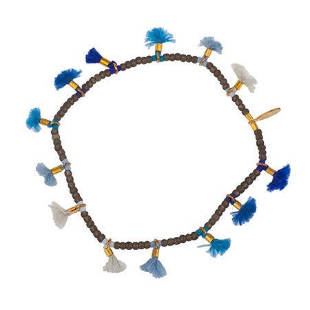 Shashi Jamie Lilu Bead & Tassel Bracelet In Navy   Eve's Addiction®