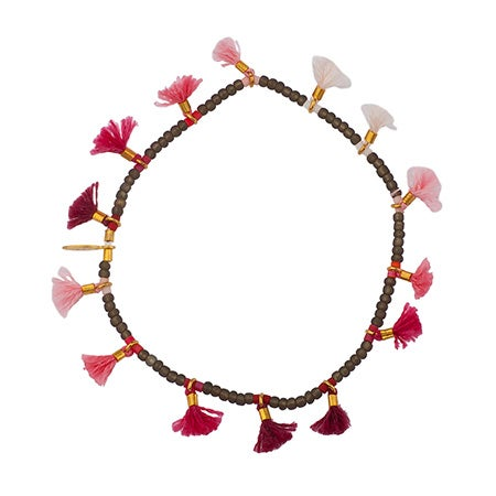 Shashi Jamie Lilu Bracelet In Fuchsia & Pink | Eve's Addiction®