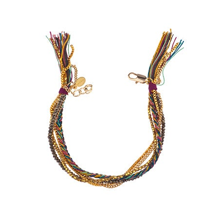 Maya Multi-Textured Bracelet in Fuchsia by Shashi | Eve's Addiction®