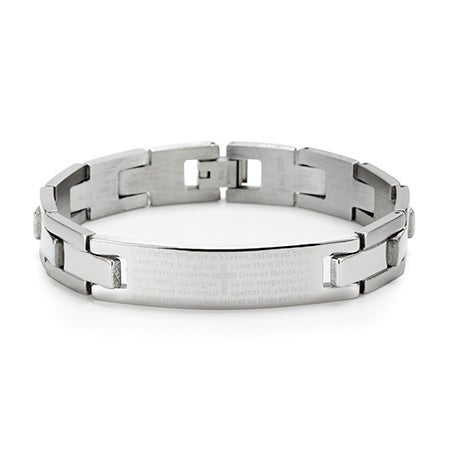 Engravable Lord's Prayer Bracelet | Lords Prayer Link Bracelet