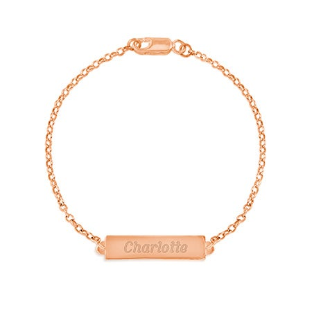 Name Bar Rose Gold Bracelet | Eves Addiction