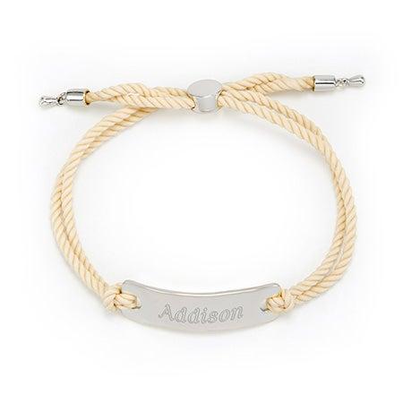 Bar Rope Bolo Engravable Bracelet
