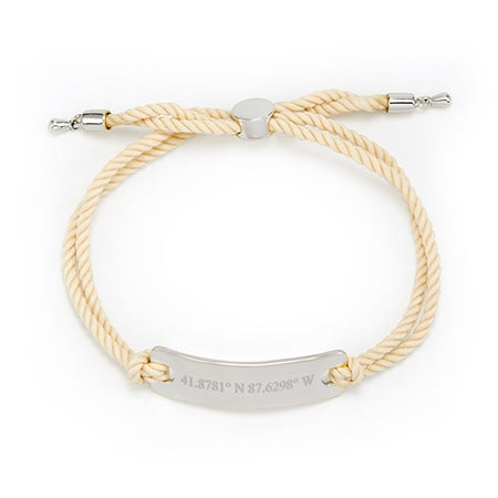 Nude Rope Custom Coordinates Bracelet | Eve's Addiction