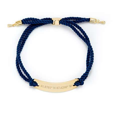 Navy Rope Gold Coordinates Bracelet | Eves Addiction