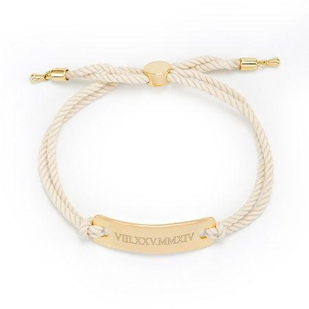 White Bolo Roman Numeral Bracelet | Eves' Addiction