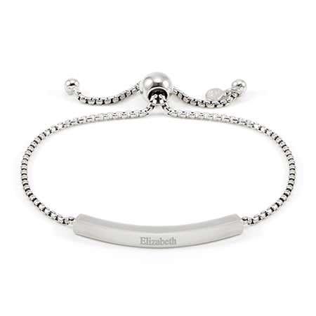 Silver Bolo Custom Name Bracelet   Eves Addiction