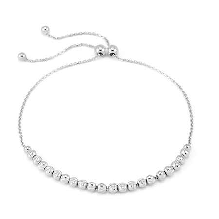 925 Sterling Silver Bolo Beaded Bracelet