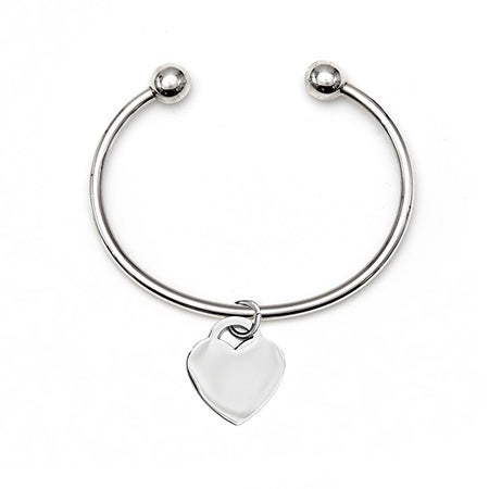 Sterling Silver Bracelet with Heart Charm | Eve's Addiction®