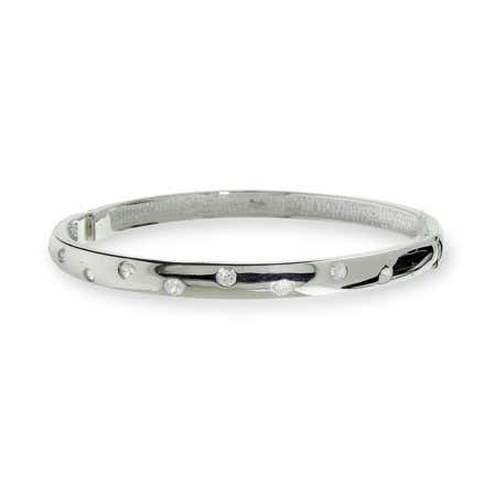 Cz bangle tennis bracelet in silver from eves addiction