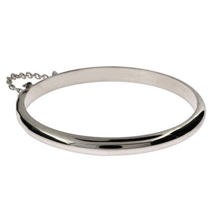 Engravable Sterling Silver Baby Bangle Bracelet | Eve's Addiction®