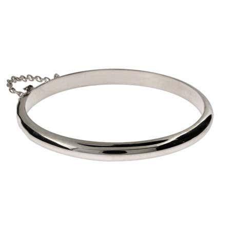 Engravable Sterling Silver Baby Bangle Bracelet