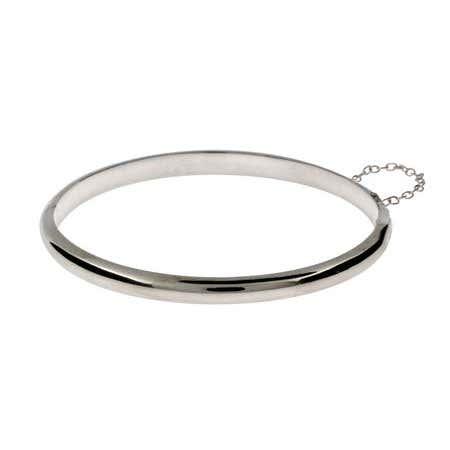 Engravable 5mm Sterling Silver Bangle Bracelet