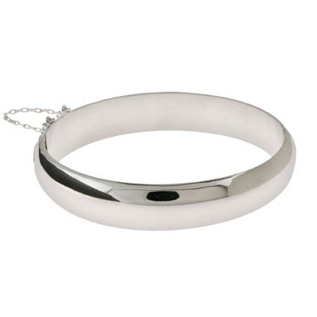 Engravable 12mm Sterling Silver Bangle Bracelet | Eve's Addiction®