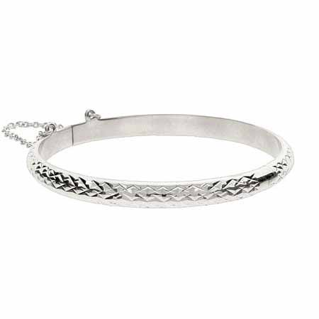 Kids Engravable 5mm Diamond Cut Bangle | Eve's Addiction®