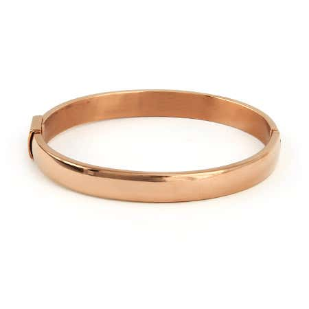 Oval Rose Gold Bangle | Eve's Addiction®