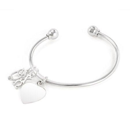 Chi Omega Sterling Silver Charm Bracelet | Eve's Addiction®