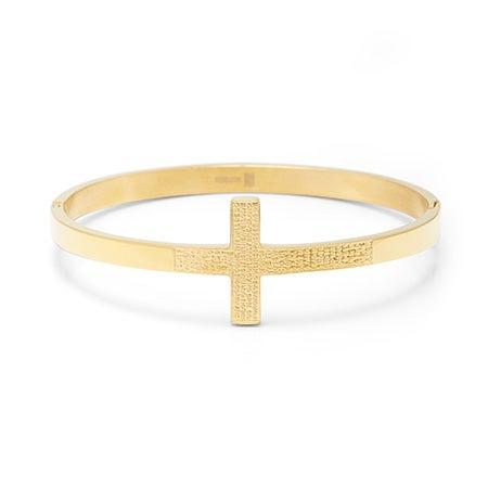 Engravable Lord's Prayer Gold Bangle Bracelet | Eve's Addiction®