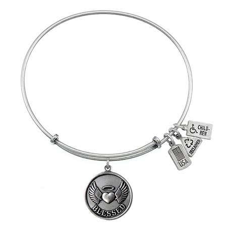 Wind & Fire Blessed Charm Bangle Bracelet