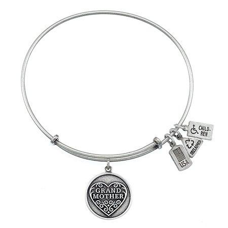 Wind & Fire Grandmother Charm Bangle Bracelet | Eve's Addiction®