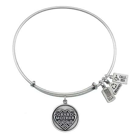 Wind & Fire Grandmother Charm Bangle Bracelet