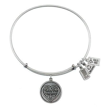 Wind & Fire Daughter Charm Bangle Bracelet | Eve's Addiction®