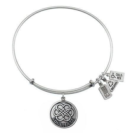 Wind & Fire Soulmate Charm Bangle Bracelet | Eve's Addiction®