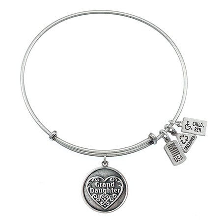Wind & Fire Grand Daughter Charm Bangle Bracelet | Eve's Addiction®